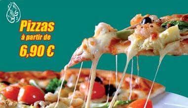 pizza à emporter à partir de 6,90 euros